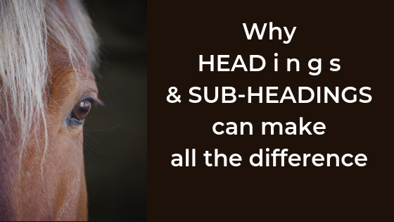 Why are headings & subheadings are important when writing content?